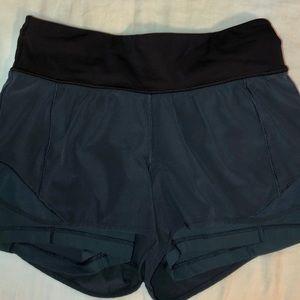 teal lululemon shorts